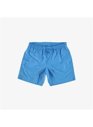 Lacoste Lacoste Erkek Baskılı Mavi Şort Mayo Mavi
